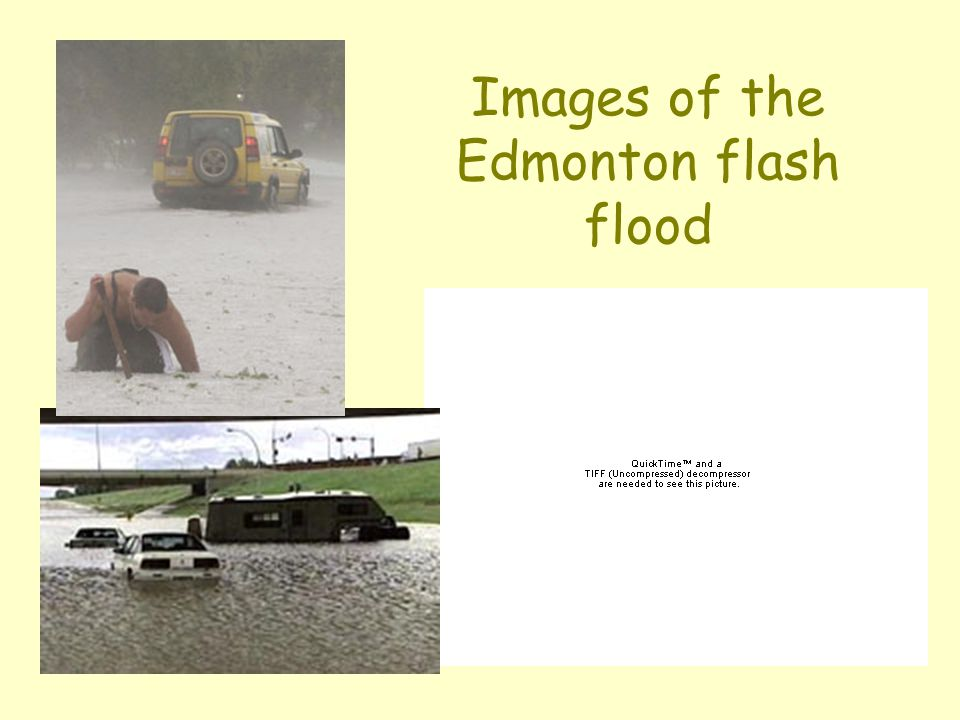Images of the Edmonton flash flood