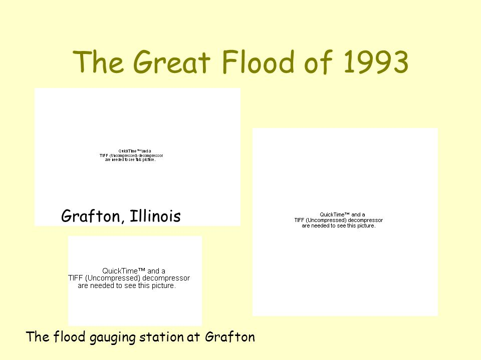 The Great Flood of 1993 Grafton, Illinois