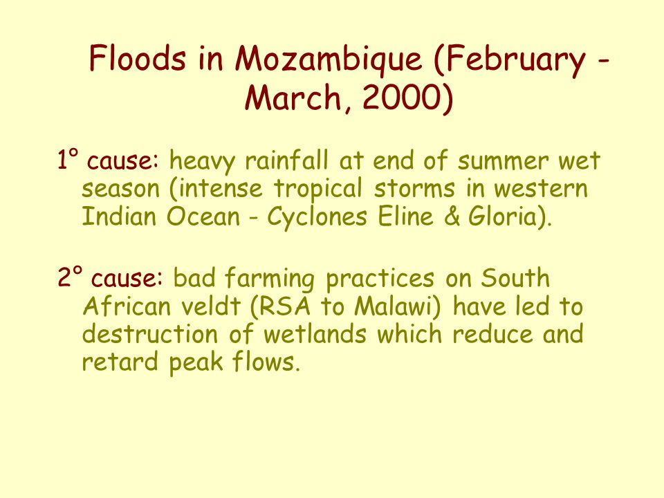 Floods in Mozambique (February - March, 2000)