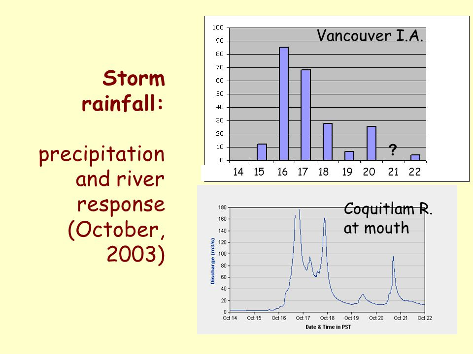 and river response (October, 2003)