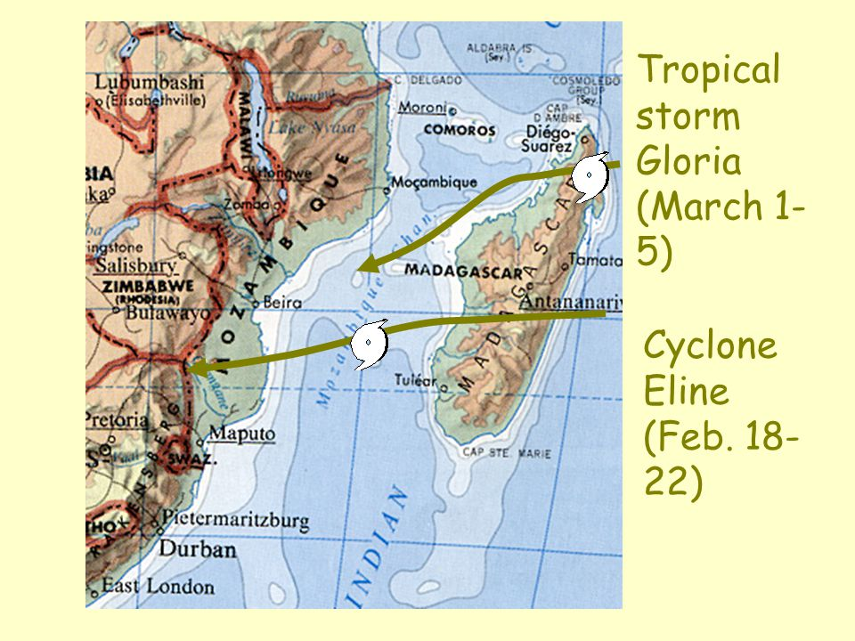Tropical storm Gloria (March 1-5)