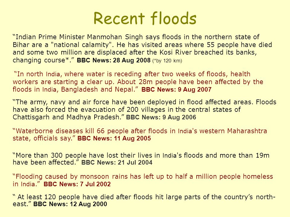 Recent floods