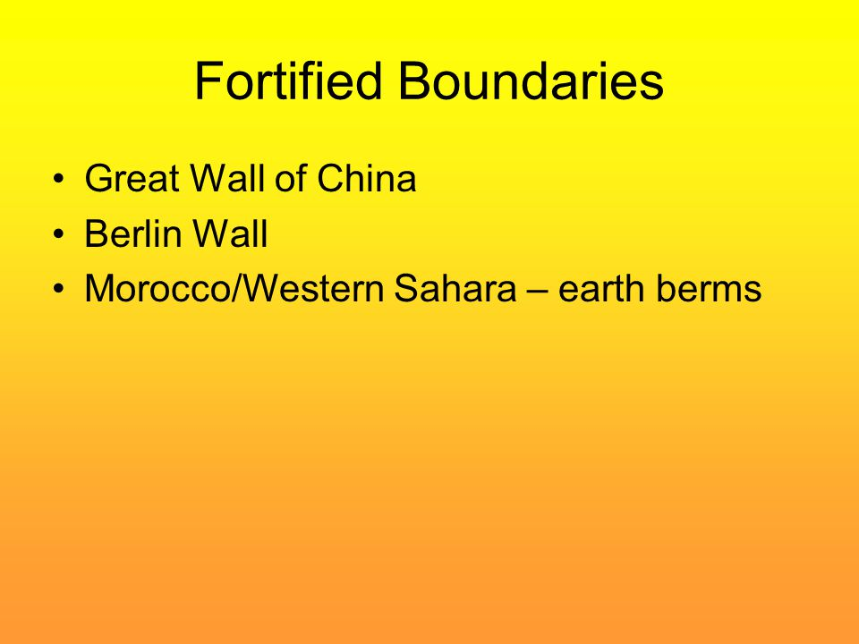 Fortified Boundaries Great Wall of China Berlin Wall