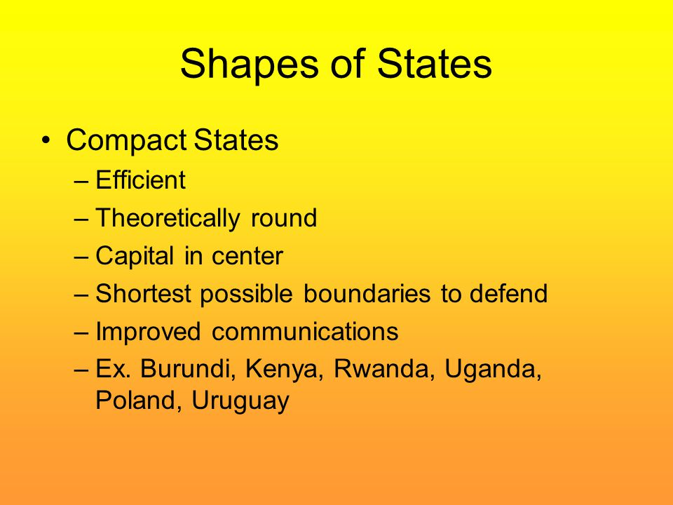 Shapes of States Compact States Efficient Theoretically round