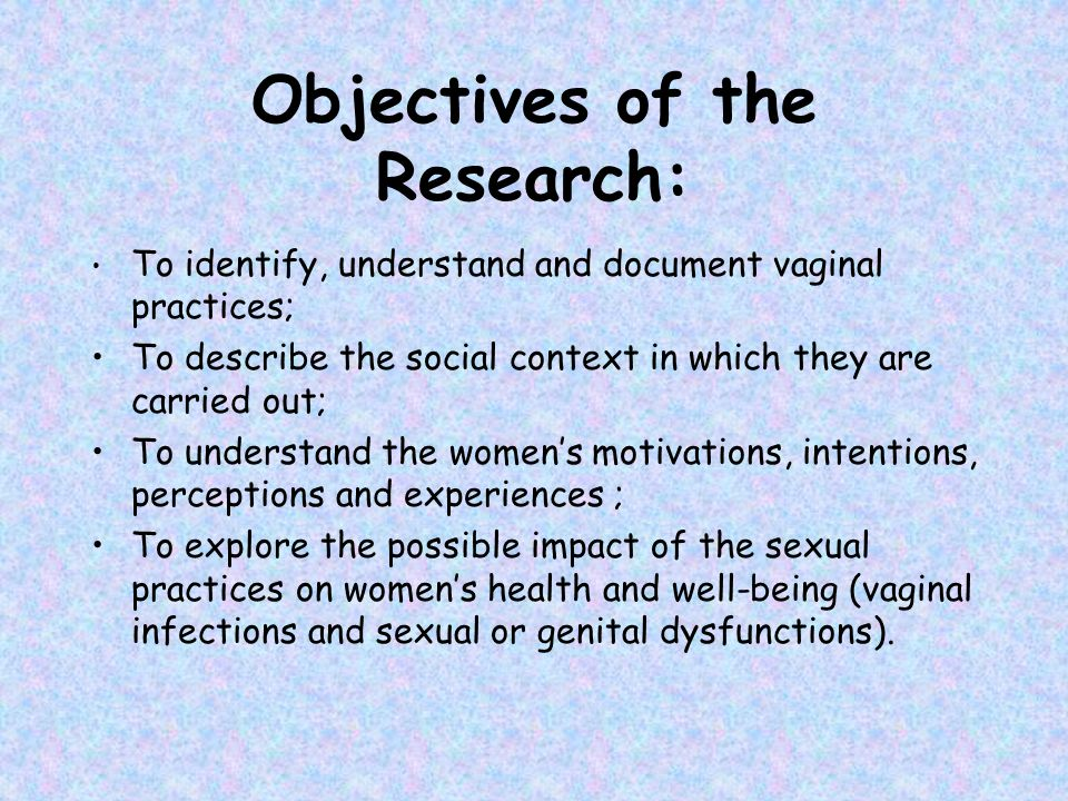 Objectives of the Research: