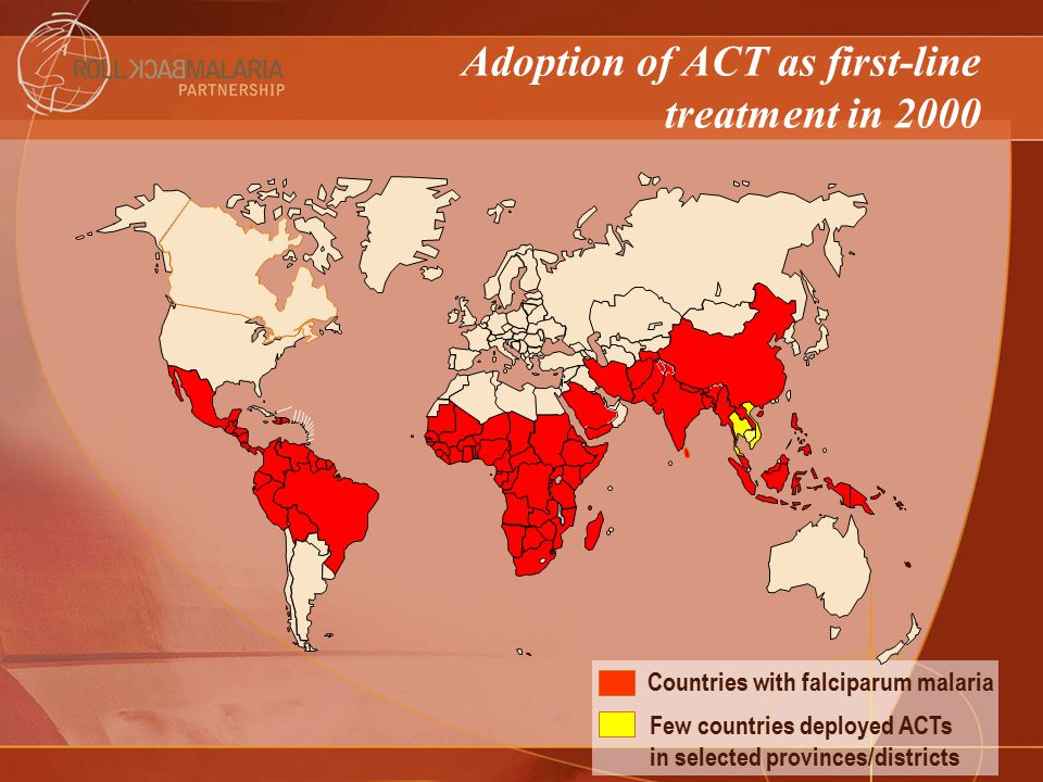 Adoption of ACT as first-line treatment in 2000