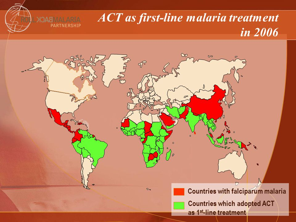 ACT as first-line malaria treatment in 2006