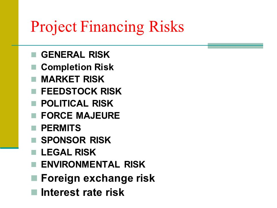 Project Financing Risks
