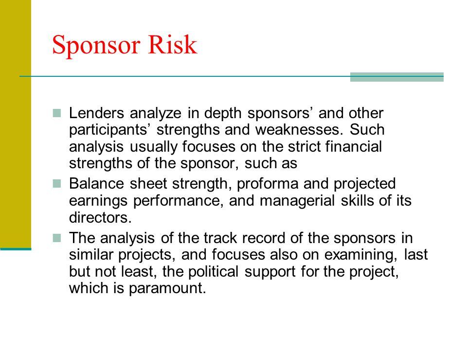 Sponsor Risk