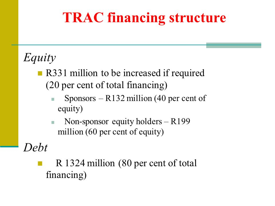 TRAC financing structure