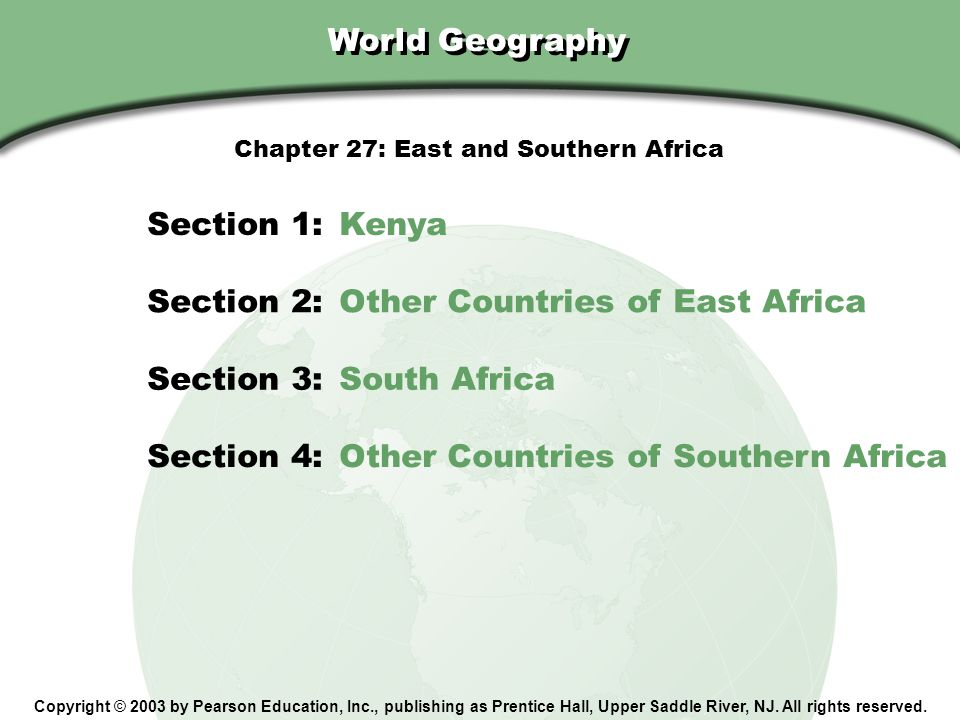 Chapter 27: East and Southern Africa