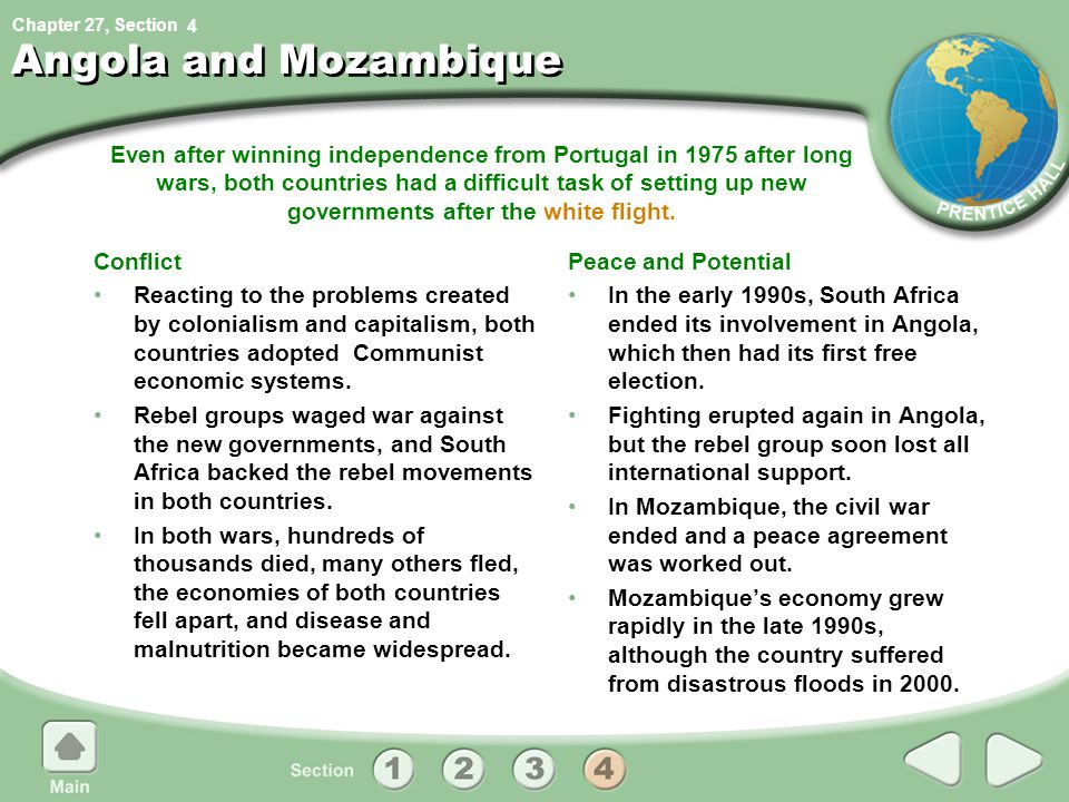 4 Angola and Mozambique.