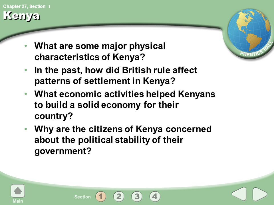 Kenya What are some major physical characteristics of Kenya