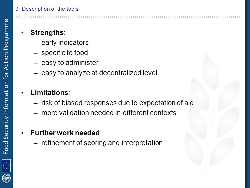 3- Description of the tools