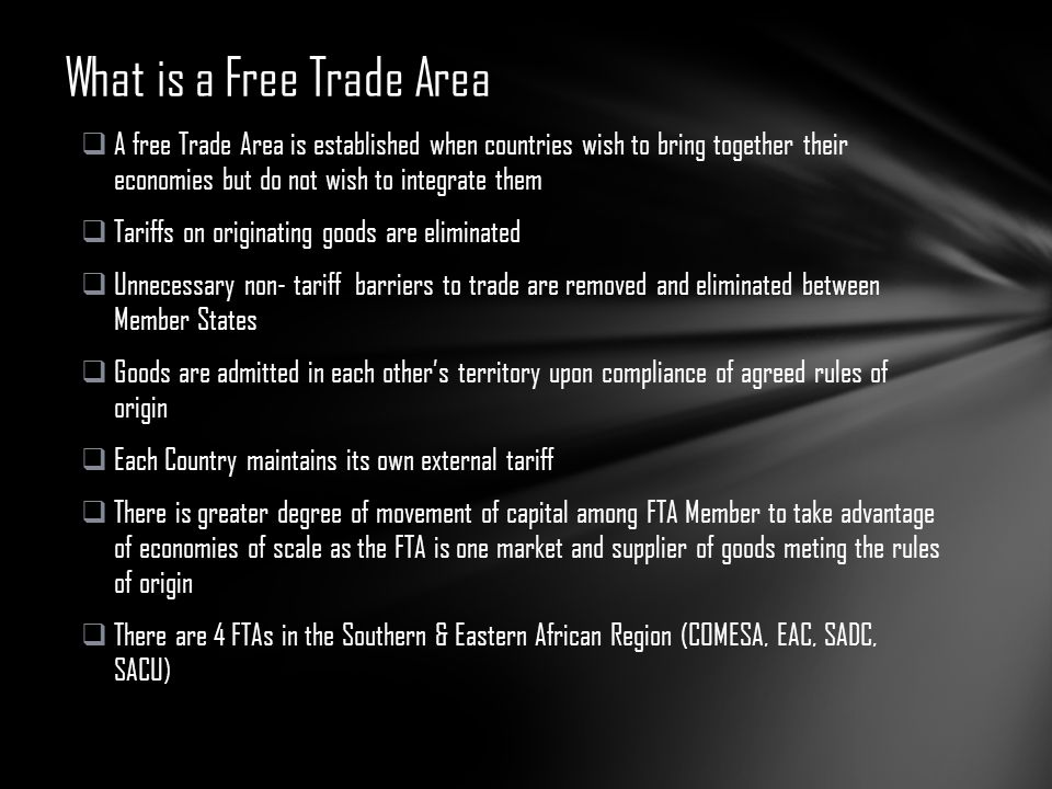 What is a Free Trade Area