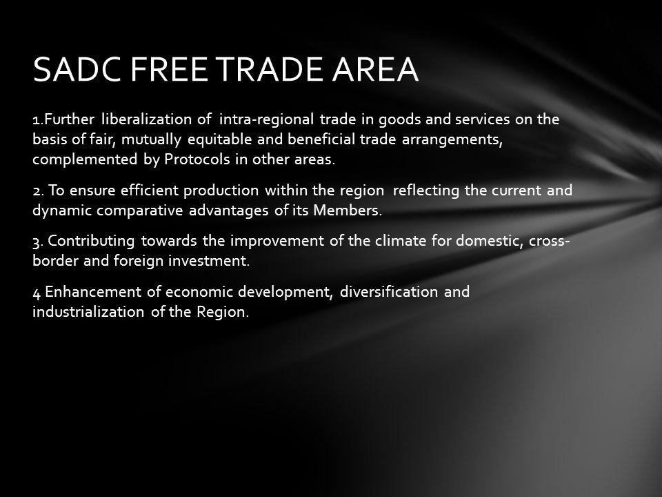 SADC FREE TRADE AREA