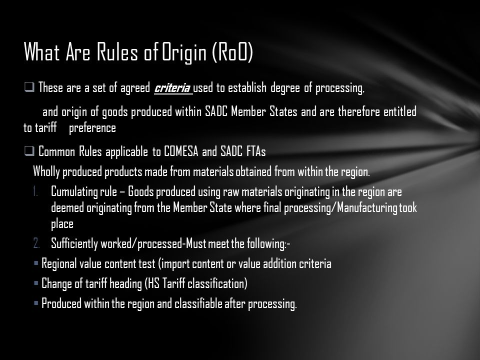 What Are Rules of Origin (RoO)