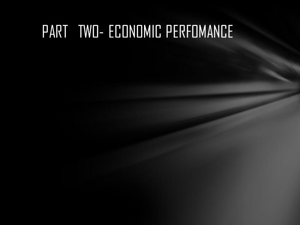 PART TWO- ECONOMIC PERFOMANCE
