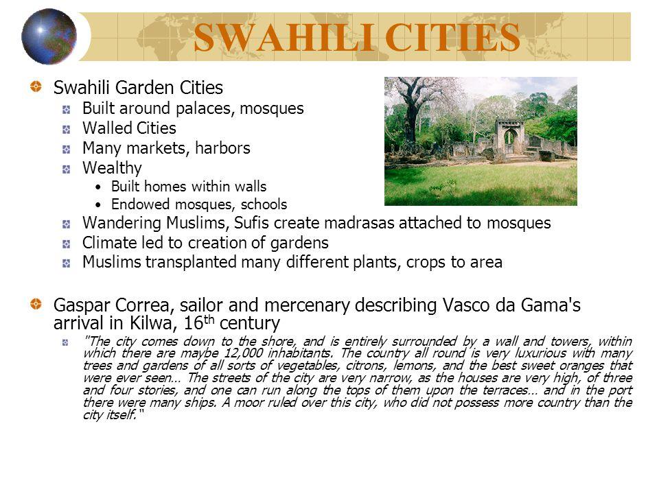 SWAHILI CITIES Swahili Garden Cities