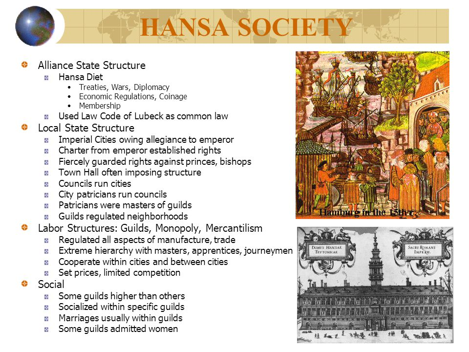 HANSA SOCIETY Alliance State Structure Local State Structure