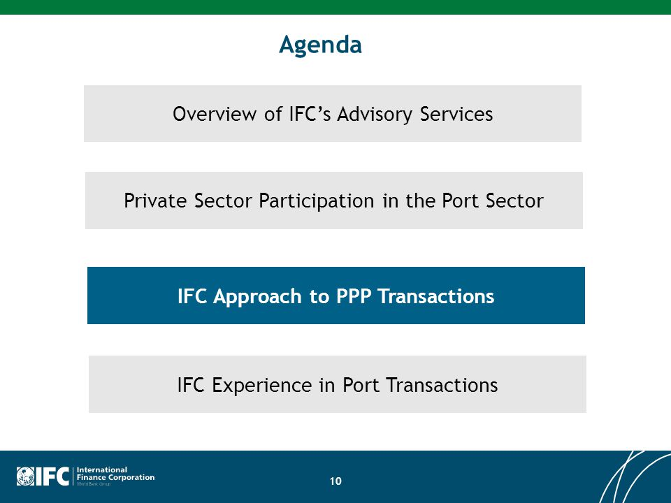 IFC Approach to PPP Transactions