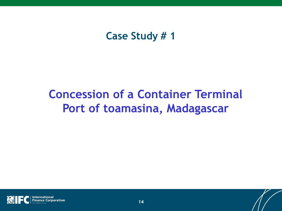 Concession of a Container Terminal Port of toamasina, Madagascar