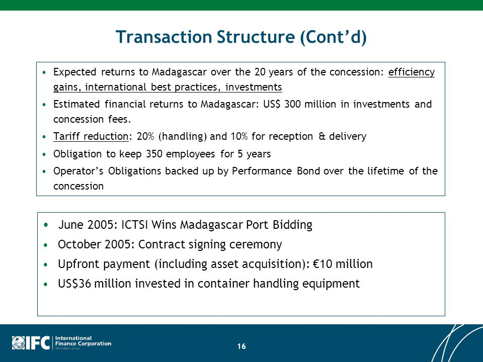 Transaction Structure (Cont'd)