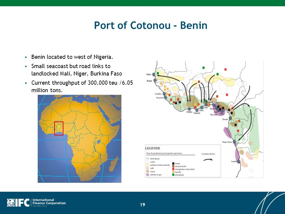 Port of Cotonou - Benin Benin located to west of Nigeria.