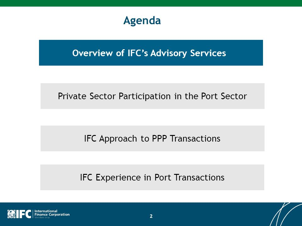 Overview of IFC's Advisory Services