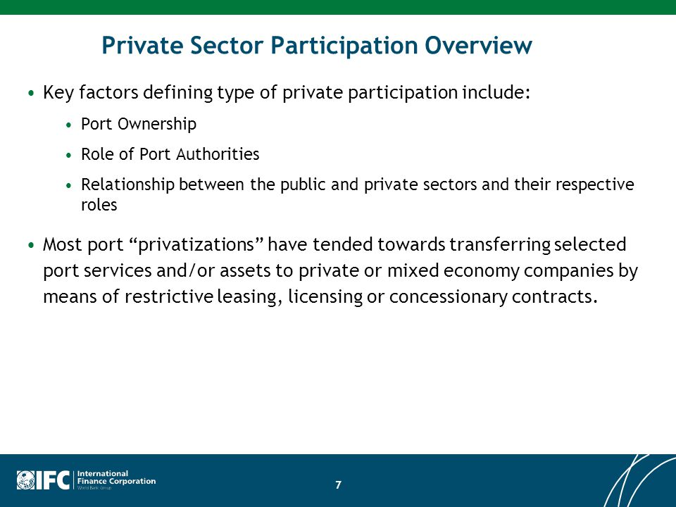 Private Sector Participation Overview