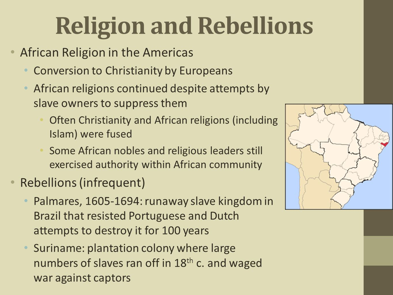 the conversion of african american slaves to christianity In this article evangelicalism and conversion  to their mission to bring christianity to the  their african slaves—again more readily.
