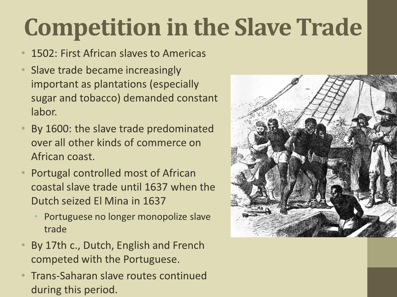 Competition in the Slave Trade