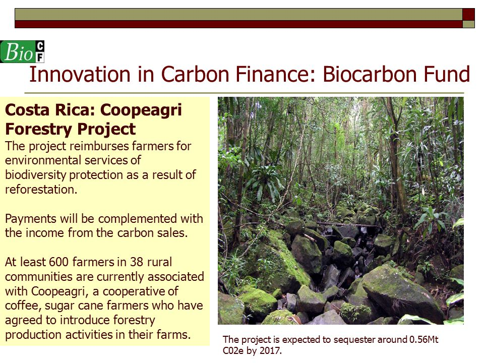 Innovation in Carbon Finance: Biocarbon Fund