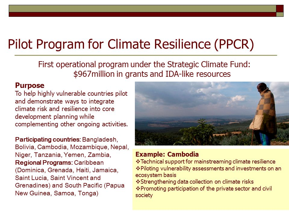 Pilot Program for Climate Resilience (PPCR)