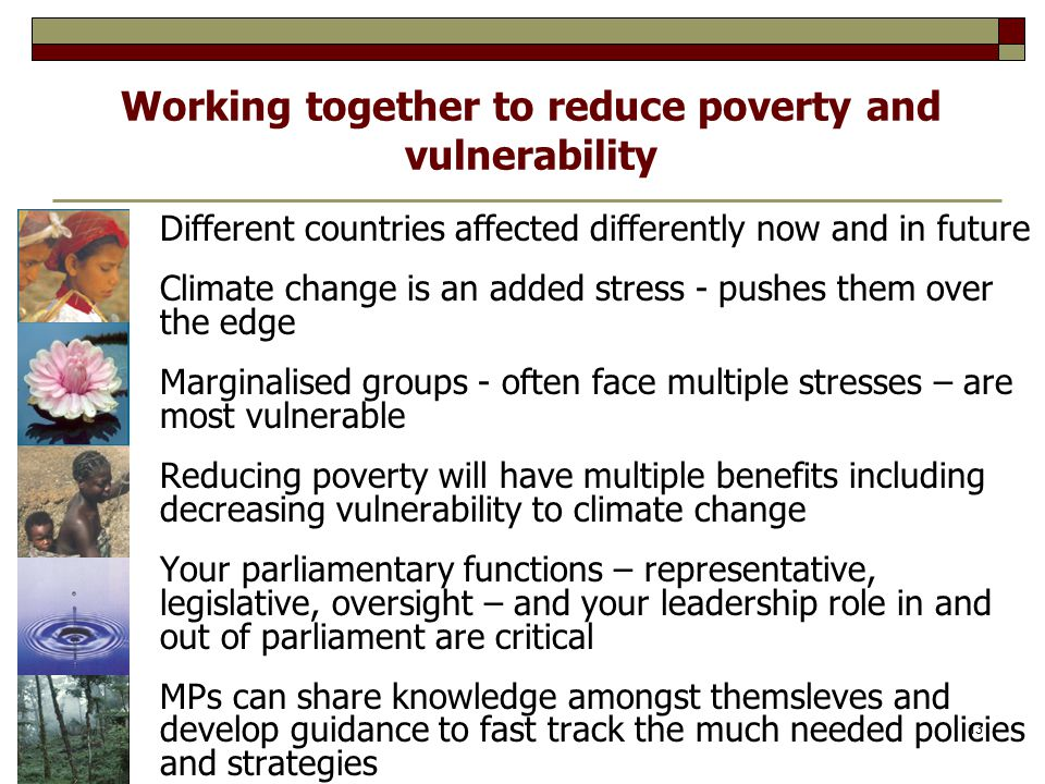 Working together to reduce poverty and vulnerability