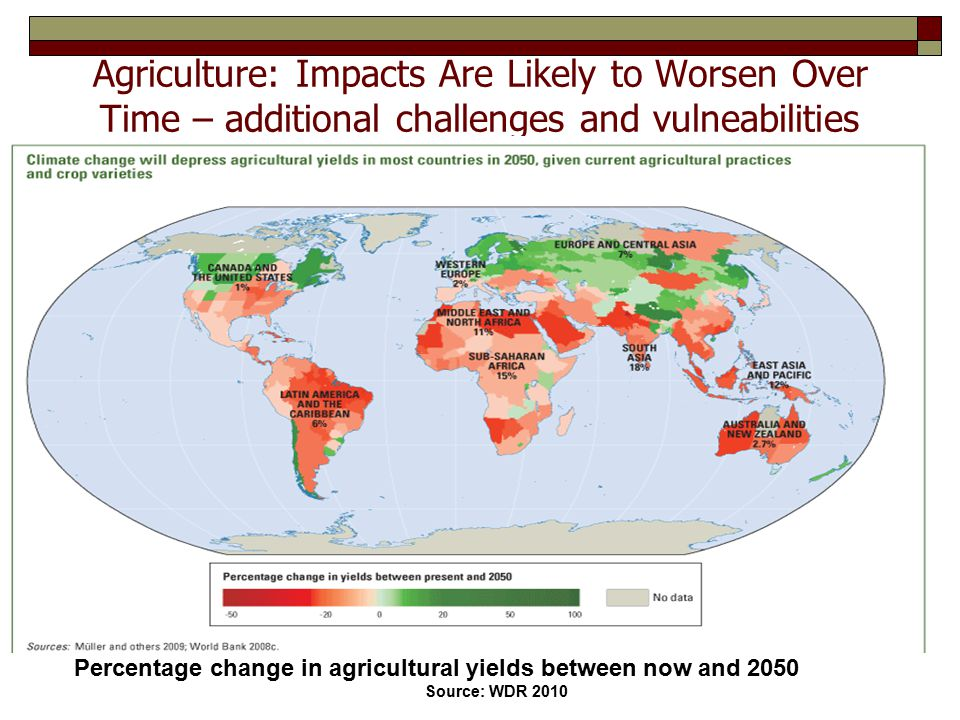 Agriculture: Impacts Are Likely to Worsen Over Time – additional challenges and vulneabilities