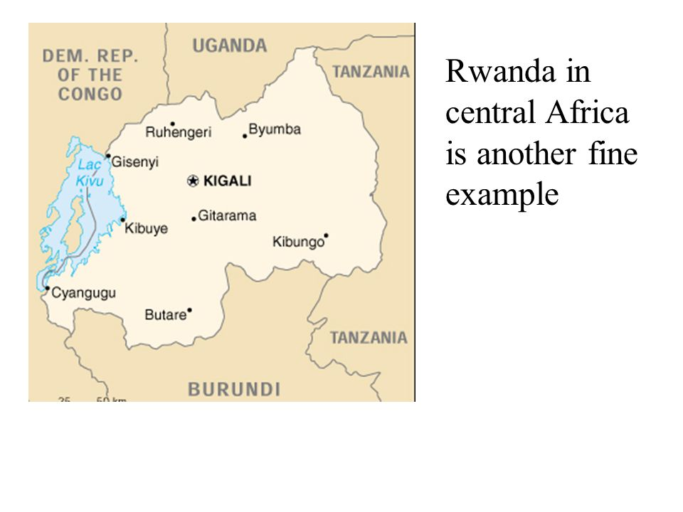 Rwanda in central Africa is another fine example