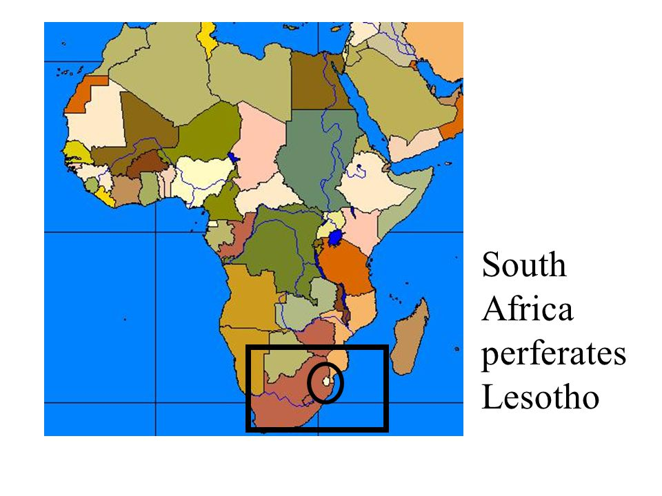 South Africa perferates Lesotho