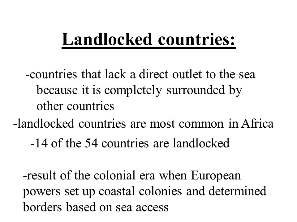 Landlocked countries: