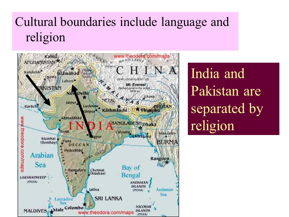 India and Pakistan are separated by religion