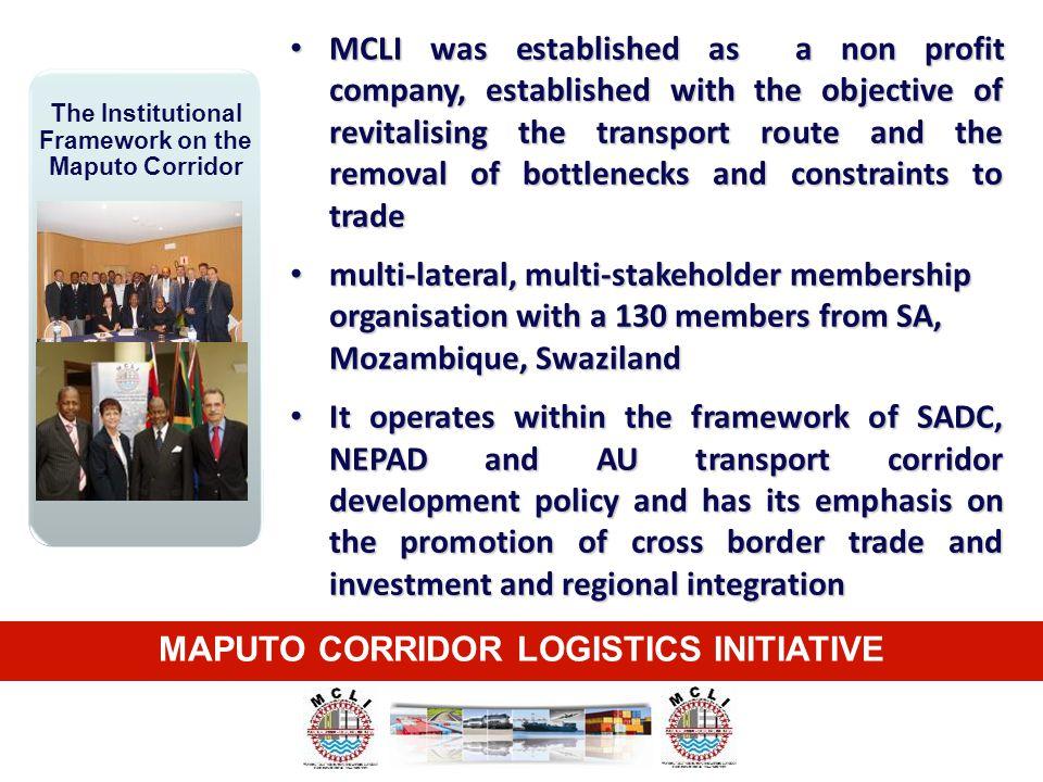 The Institutional Framework on the Maputo Corridor