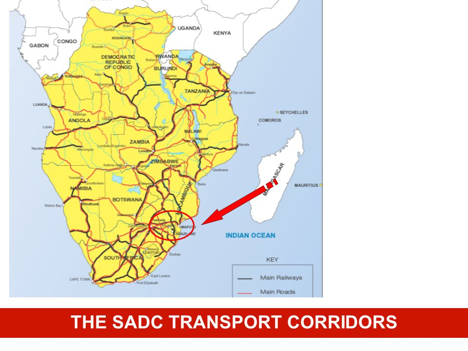 THE SADC TRANSPORT CORRIDORS