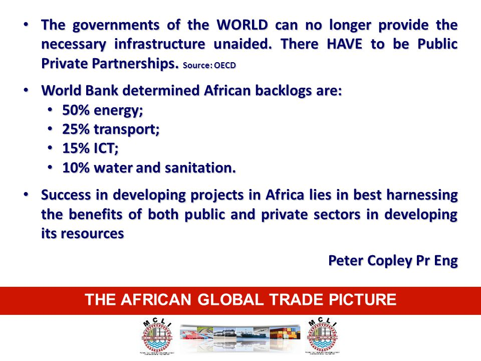 THE AFRICAN GLOBAL TRADE PICTURE