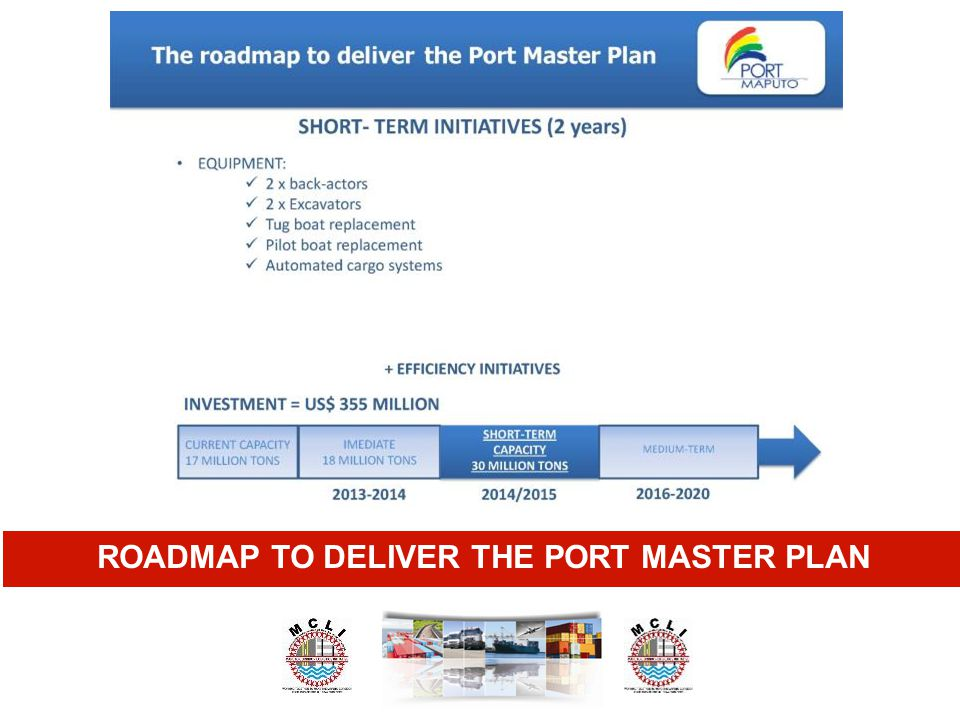 ROADMAP TO DELIVER THE PORT MASTER PLAN