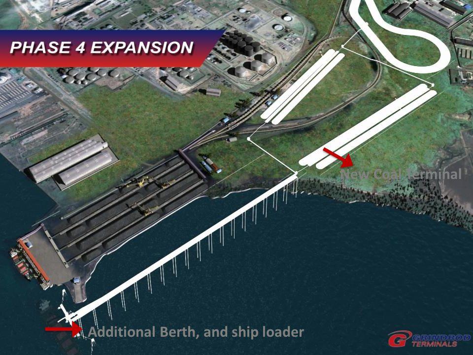 New Coal Terminal Additional Berth, and ship loader