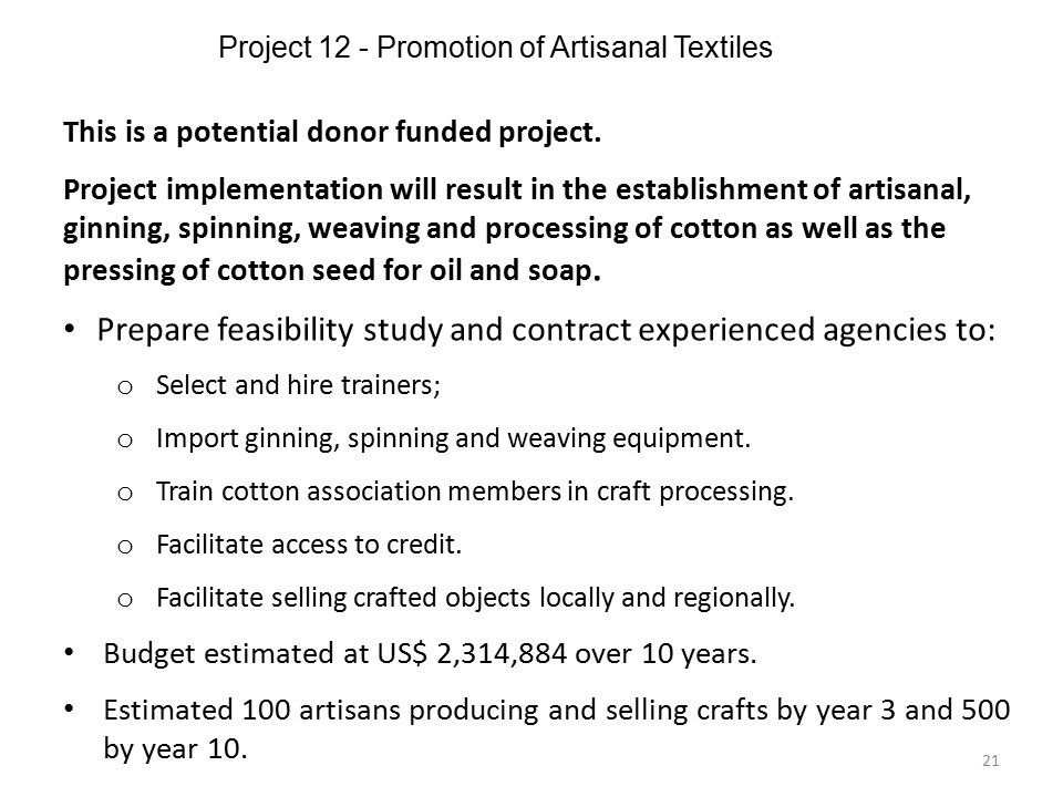 Project 12 - Promotion of Artisanal Textiles