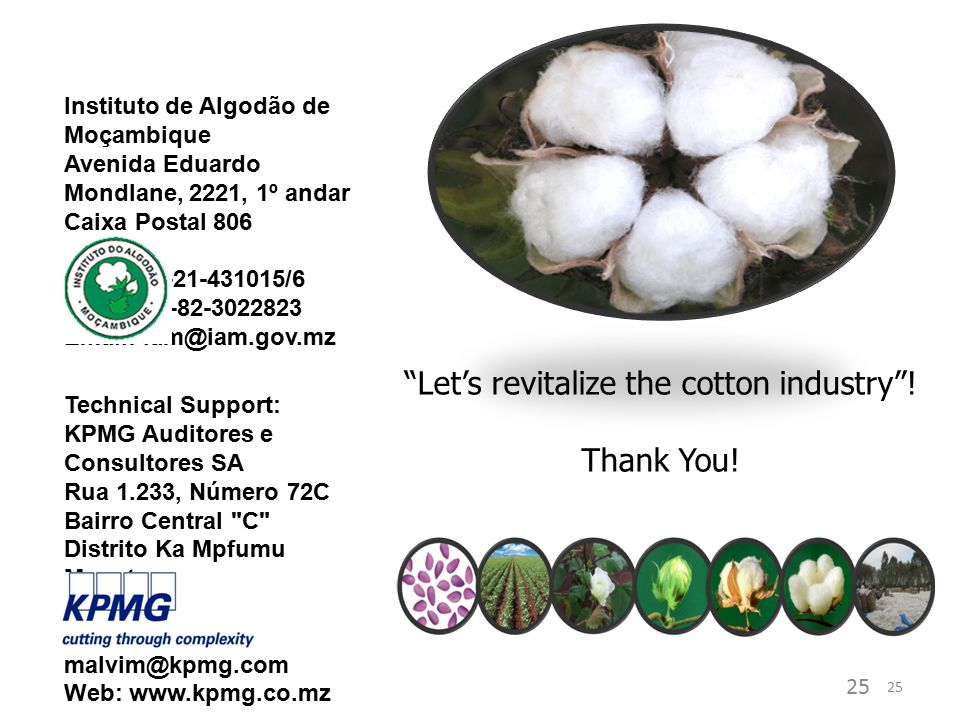 Let's revitalize the cotton industry ! Thank You!