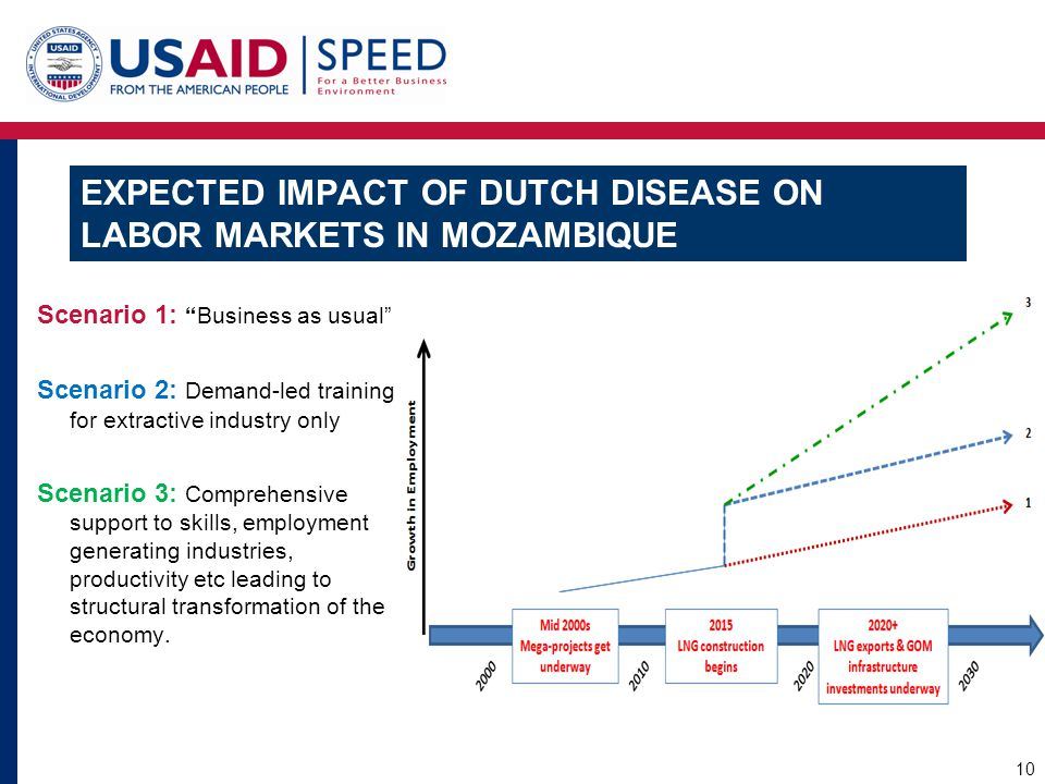 EXPECTED IMPACT OF DUTCH DISEASE ON LABOR MARKETS IN MOZAMBIQUE