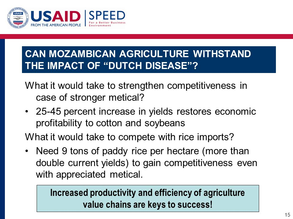 Can Mozambican agriculture withstand the impact of Dutch disease