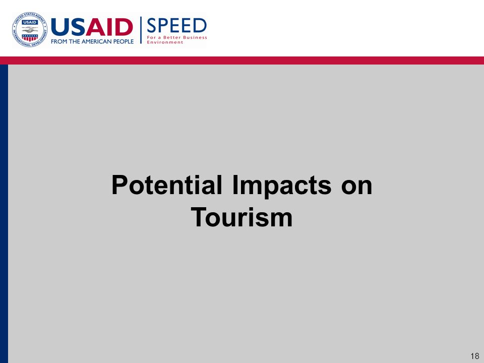 Potential Impacts on Tourism